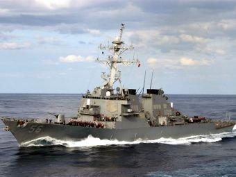"""Эсминец ВМС США """"Джон Маккейн"""" идет на перехват судна КНДР"""