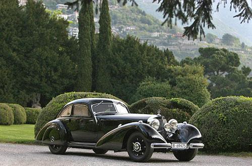 Mercedes-Benz 540 K Autobahnkurier 1938 года получил приз зрительских симпатий Coppa D'Oro.