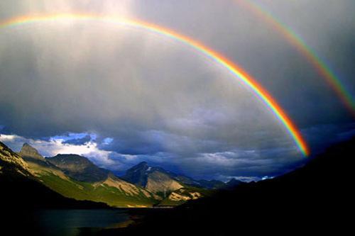 Радуга. Радуга – самое красивое атмосферное явление. Радуги могут принимать различные формы, общим для них является правило расположения цветов – в последовательности спектра (красный, оранжевый, желтый, зеленый, голубой, синий, фиолетовый). Радуги можно наблюдать, когда Солнце освещает часть неба, а воздух насыщен капельками влаги, например, во время или сразу после дождя. В древности появлениям радуги на небе придавали мистический смысл. Увидеть радугу считалось хорошим предзнаменованием, проехать или пройти под ней сулило счастье и успех. Двойная радуга, как говорили, приносит удачу и исполняет желания. Древние греки верили, что радуга – это мост на небо, а ирландцы считали, что на другом конце радуги находится легендарное золото лепреконов.