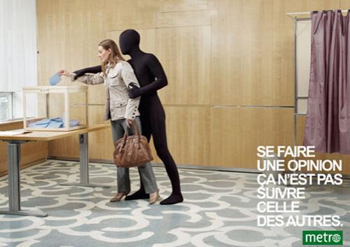 Агентство разработало печатную кампанию для газеты Metro…
