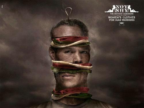 <br />             А вот ещё одна рекламная кампания - Not Shy - горячая одежда из кашемира…<br />