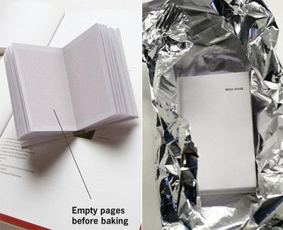 Кулинарная книга, которую необходимо запечь перед прочтением - «Well Done»