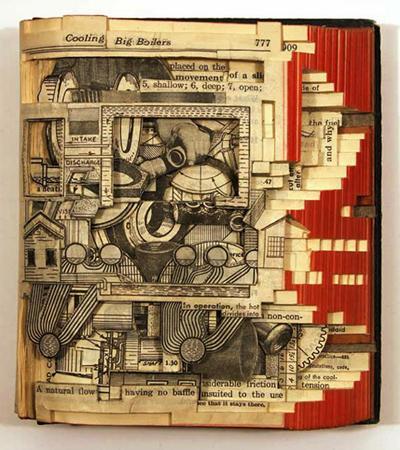 Книги-скульптуры Брайана Деттмера (Brian Dettmer)
